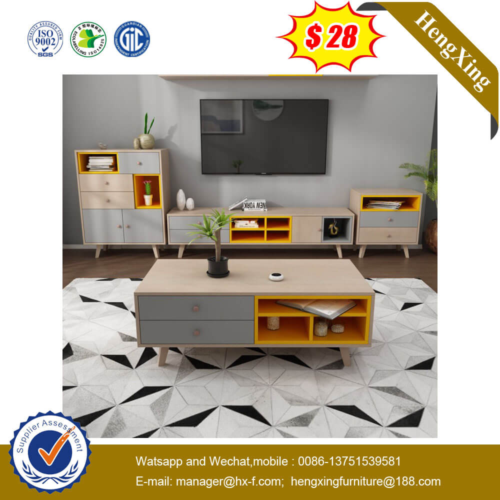 Wall Cabinet Combination Modern Design Push-open Door TV Stand Showcase for Living Room