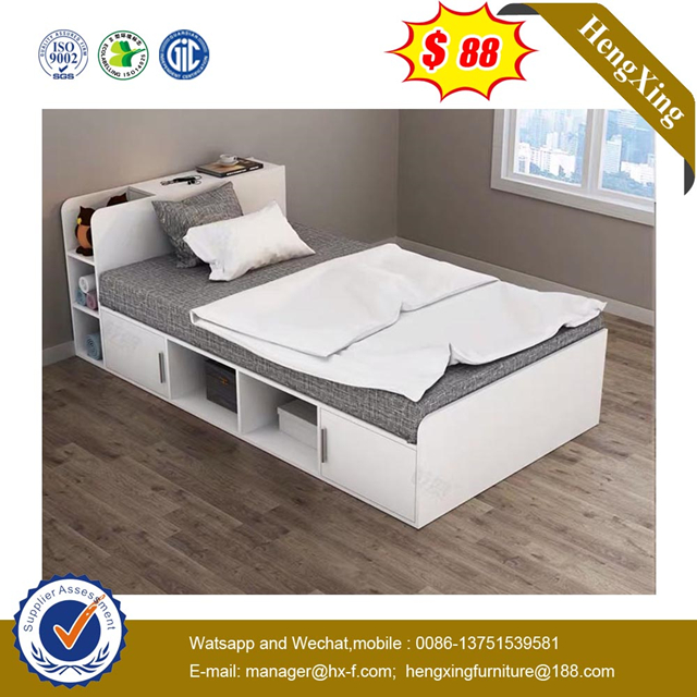 Chinese Factory Wooden MDF Children home Bedroom Furniture nighstand Single Kids Bunk Bed