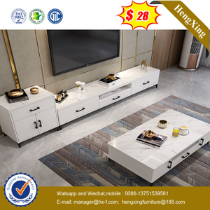 white Modern wooden Living Room Furniture set Wooden TV Stand side cabinets Coffee Tables