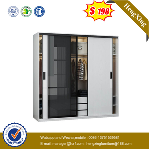 North European Modern Contracted Toughened Glass Door 2m Wardrobe Bedroom Sliding Door Integral Living Room Office Wardrobe