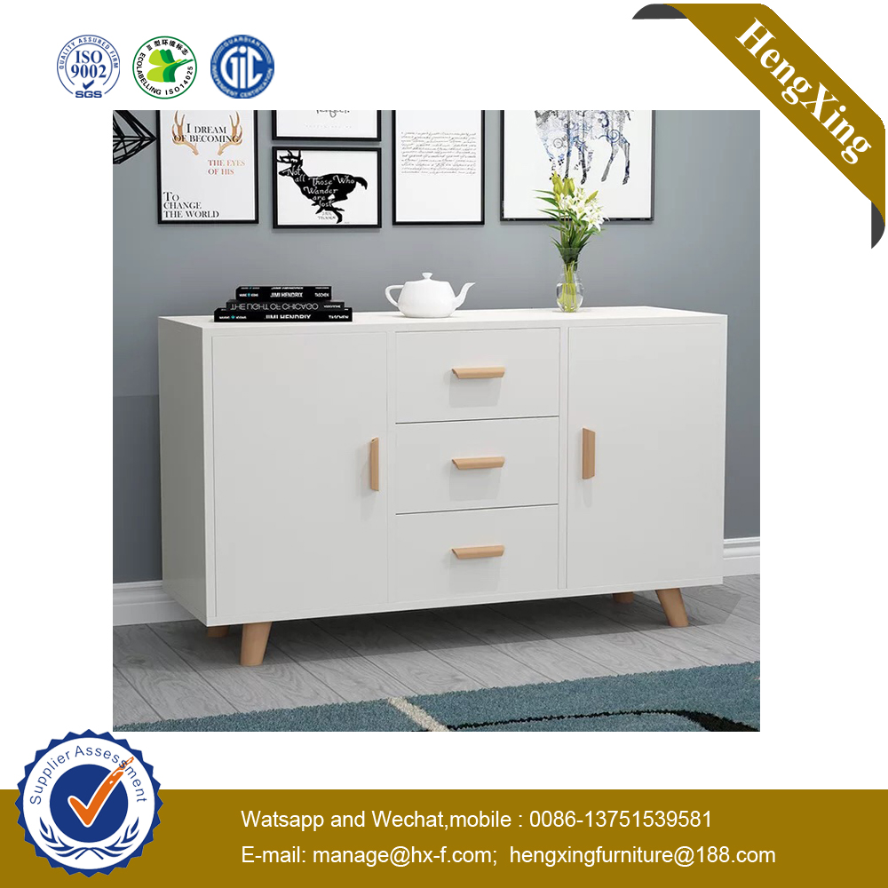 Chinese Wholesale Wooden Home Kitchen Furniture Glass Door Sideboard Storage Cabinets