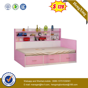 Modern Home Wooden drawer cabinets Wardrobe Wood Frame Kids bed Bedroom set Furniture
