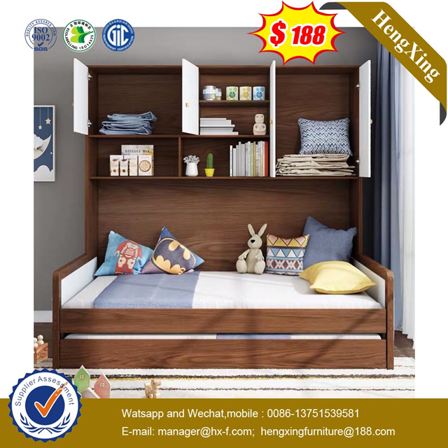 Modern School Home Apartment Hotel Bedroom Furniture Single MDF Wooden Children Bed
