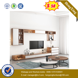 High Quality Modern Furniture TV Stand Storage Cabinet Round Coffee Desk Living Room Set
