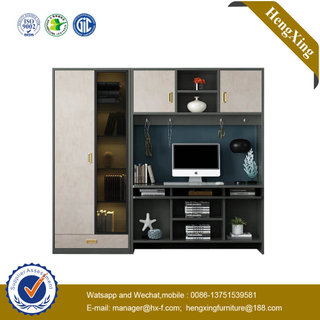 Modern Home Furniture Bookcase Table Study Desk Combination With Wardrobe Cabinet