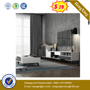 Hot Sale Tempered WoodenTop Drawer Storage Design Living Room TV Unit cabinet Wood Coffee Table Set