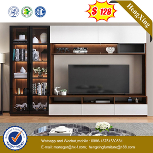 Chinese Modern Hotel Office Wood Bedroom Home Dining Living Room Furniture TV cabinets wall shelf TV stands