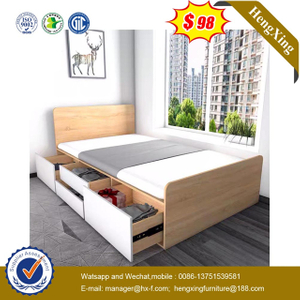 Factory Wholesale Wood Modern Design home Bedroom Children Furniture Kids Bunk Single simple Beds