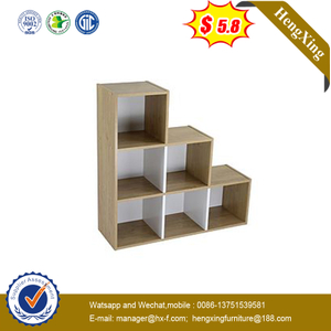 Modern Home Wood Movable Book Case Bookshelf