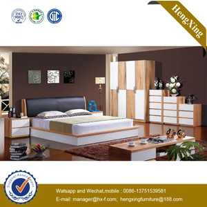 Luxury Adult King Bed Wooden Hotel Home Bedroom Furniture Double Single Bed Set