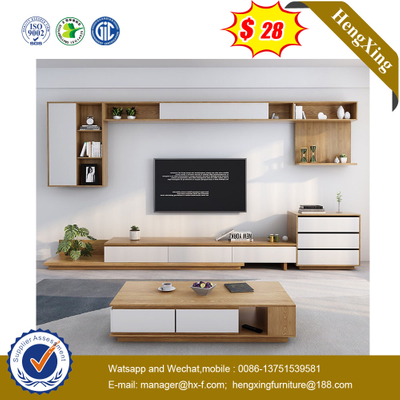 Nordic TV Stand Coffee Table Combination Set Solid Wood Living Room Side Cabinet