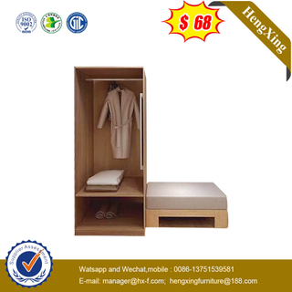 Nordic Design Home Hotel Livingroom Furniture Wooden Open Closet Wardrobe With Chair