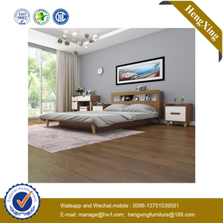 China Manufacturing Experience Modern Hotel Room Wooden Bedroom Double Set