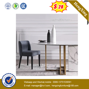 Modern Furniture Marble Round Restaurant Dining Table Side Coffee Tables