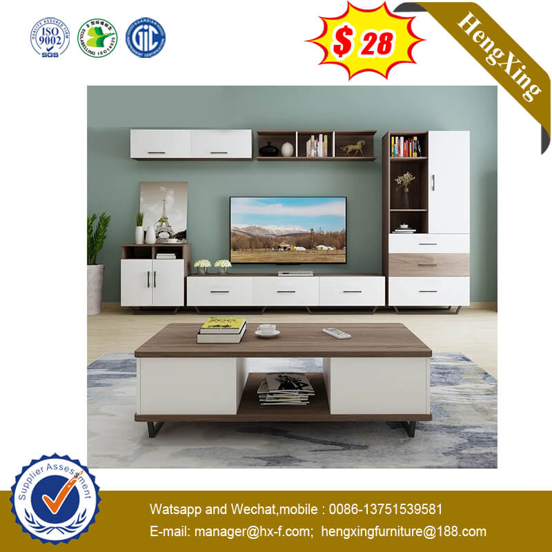 1.2mm Customerized Size White Color Fashion Coffee Table with Wooden Legs