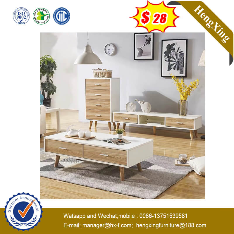 Wooden Coffee Tables Home Hotel Dining Table Furniture Set TV Stand