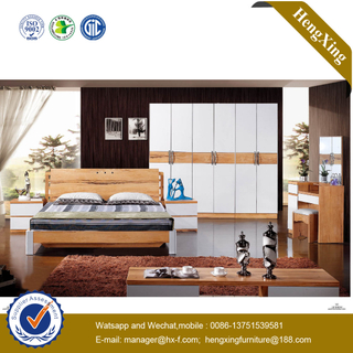 Modern Design Bedroom Wooden Furniture Nightstand Side Cabinets Wall Single King Bed