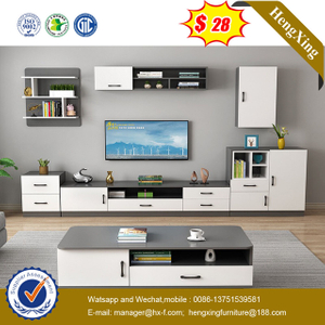 Wooden Cheap Simple Design 1.2 M Customerized Size side cabinets TV Stand coffee table living room Furnitures